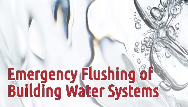 Emergency Flushing of Building Water Systems